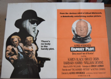 Family Plot, Original UK Quad Poster, Karen Black, Bruce Dern, Hitchcock film 76